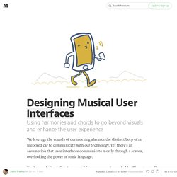 Designing Musical User Interfaces