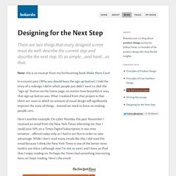 Designing for the Next Step