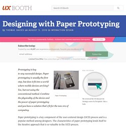 Designing with Paper Prototyping