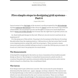 Five simple steps to designing grid systems - Part 4 : Journal : Mark Boulton