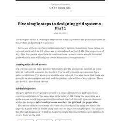 Five simple steps to designing grid systems – Part 1