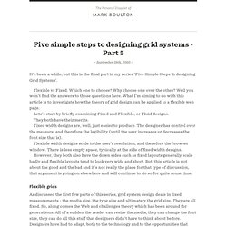 Five simple steps to designing grid systems - Part 5