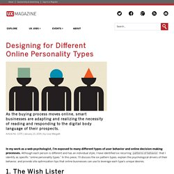 Designing for Different Online Personality Types