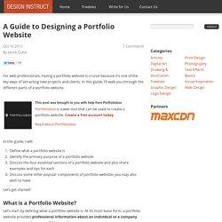 Guide pour l'élaboration d'un site Web portefeuille