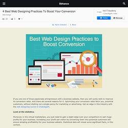 4 Best Web Designing Practices To Boost Your Conversion on Behance