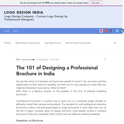 The 101 of Designing a Professional Brochure in India