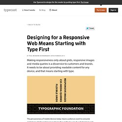 Designing for a Responsive Web Means Starting with Type First