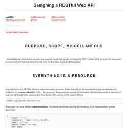 Designing a RESTful Web API