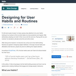 Designing for User Habits and Routines - Tuts+ Web Design Article