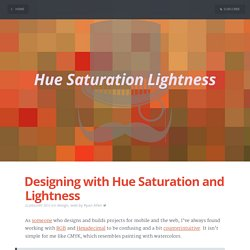 Designing with Hue Saturation and Lightness