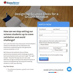 Designing Science Class for a Growth Mindset