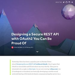 Designing a Secure REST API with OAuth2 You Can Be Proud Of | ahmet alp balkan : blog