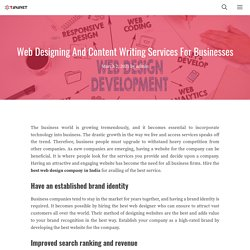 Web Designing And Content Writing Services For Businesses