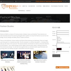 Study Fashion Designing Courses/Degree in Singapore - Imperial-overseas.com