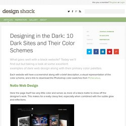 Designing in the Dark: 10 Dark Sites and Their Color Schemes