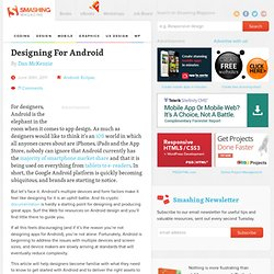 Designing For Android - Smashing Magazine