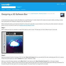Designing a 3D Software Box