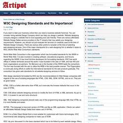 W3C Designing Standards and Its Importance!