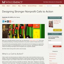 Designing Stronger Nonprofit Calls to Action