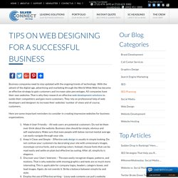 Tips on Web Designing for a Successful Business