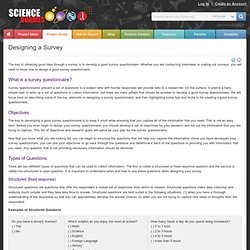 Designing a Survey