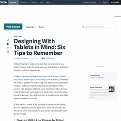 Designing With Tablets in Mind: Six Tips to Remember