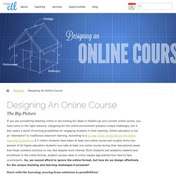 Designing An Online Course : The Center for Teaching and Learning
