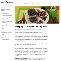 Designing Teaching and Learning Tools