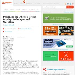 Designing for iPhone 4 Retina Display: Techniques and Workflow - Smashing Magazine