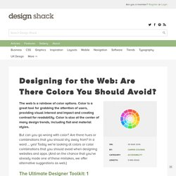 Designing for the Web: Are There Colors You Should Avoid?