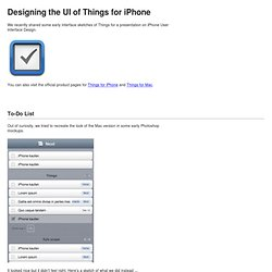 Designing the UI of Things for iPhone