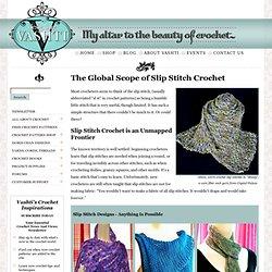 Designing Vashti Slip Stitches