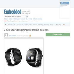 7 rules for designing wearable devices
