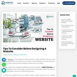 Tips To Consider Before Designing A Website - WebcomSystems.com.au