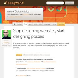 Stop designing websites, start designing posters « Boagworld
