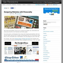Designing Websites with Personality