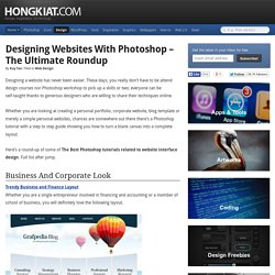 Designing Websites with Photoshop – The Ultimate Roundup