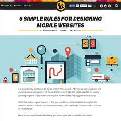 6 simple rules for designing mobile websites