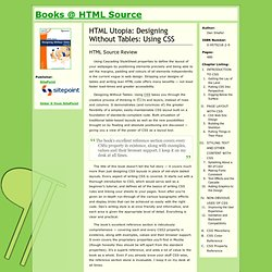 Designing Without Tables: Using CSS | Review || Books @ HTML Source