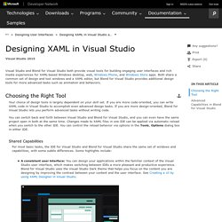 Designing XAML in Visual Studio