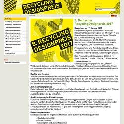 Recycling Designpreis: Startseite