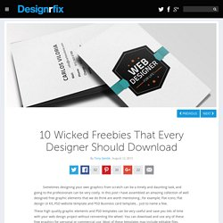 10 Wicked Freebies That Every Designer Should Download