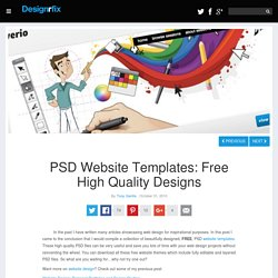 PSD Website Templates: Free High Quality Designs