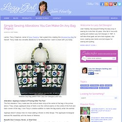 Blog » Simple Sewing Alterations You Can Make On Any Bag Project