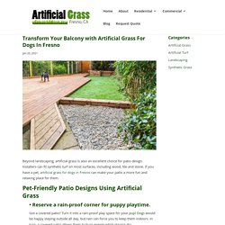 Patio Designs Using Artificial Grass For Dogs In Fresno