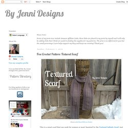 Free Crochet Pattern: Textured Scarf