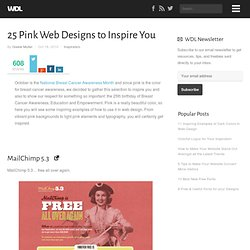 25 Pink Web Designs to Inspire You