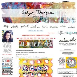 Art Journaling Week: Welcome!