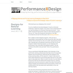 Designs for Natural Learning « Performance X Design