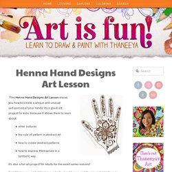 Henna Hand Designs Art Lesson: Make a Unique Self-Portrait